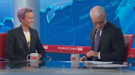 Anderson Cooper completely flustered by Megan Rapinoe: 'That caught me by surprise'