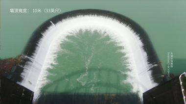 南化水庫30天「從無到有」!放水畫面超震撼