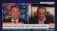 Chris Cuomo tells restaurant owner who 'banned' vaccinated customers that he 'sounds like an idiot'