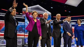 Bloomberg Bombs in Democratic Debate as Warren Fights Back