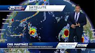 Tropical storms Peter and Rose churn in Atlantic