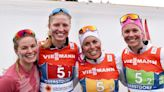 Eight-tenths of a second keeps US skiers off the podium in World Championship relay race