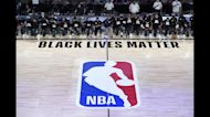 Players protest racial injustice as NBA returns to action