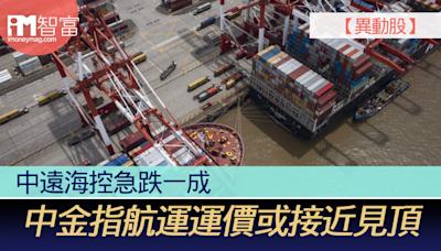 【異動股】中遠海控急跌一成 中金指航運運價或接近見頂 - 香港經濟日報 - 即時新聞頻道 - iMoney智富 - 股樓投資