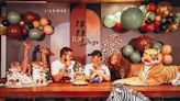 陳鎮川在家為兒辦百日宴 客廳變可愛動物叢林   蘋果新聞網   蘋果日報