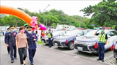 台東警分局落成 新型警用車上路