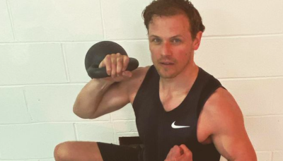 Sam Heughan Showed Off His Ripped Biceps in a Sweaty Post-Workout Selfie