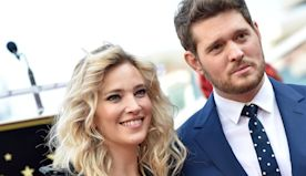 Michael Buble celebrates wife's new movie in 'quarantine style' with pajamas, slippers