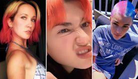 Celebrities are dyeing their hair bright colors during coronavirus quarantine