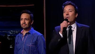 Jimmy Fallon, Lin-Manuel Miranda perform medley in celebration of return of Broadway