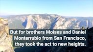 Adventurous Brothers Claim Yosemite Record With a 2,800-Foot Highline Walk
