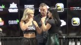 Video: Paige VanZant and Rachael Ostovich face off ahead of rematch at BKFC 19