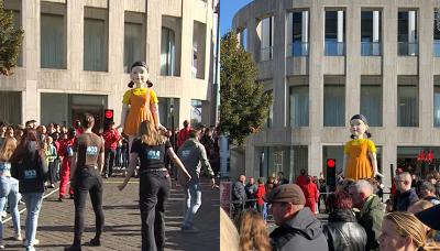 《魷魚遊戲》驚悚女童現身荷蘭街頭 數百人嗨玩123木頭人