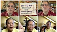 Cellist Yo-Yo Ma uses music to touch people, even through a screen