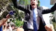 Juan Guaido Rallies Supporters During Standoff Outside Venezuelan National Assembly