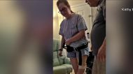 Las Vegas teen learning to walk again after rare COVID-19 vaccine reaction