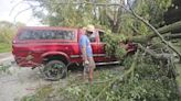 Truck damaged in Wisconsin storms