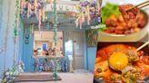 台中勤美誠品人氣韓式料理餐廳,藍綠夢幻花鞦韆好好拍,餐點也有水準!