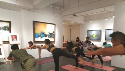 Chill到不行!風靡歐美「微醺瑜珈」台北畫廊登場 結合品酒、運動、當代藝術超紓壓   台灣英文新聞   2021-10-15 14:52:00