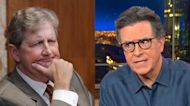 Stephen Colbert calls for 'idiot' Sen. John Kennedy to be voted out for remarks following Boulder shooting