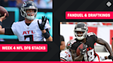 Best NFL DFS Stacks Week 4: Lineup picks for DraftKings, FanDuel tournaments, daily fantasy football cash games