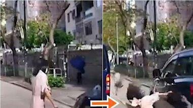 【車cam直擊】失魂女子疑衝紅燈 遭七人車撞倒