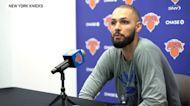 Evan Fournier on Knicks chemistry so far, season opener vs Boston Celtics | Knicks News Conference