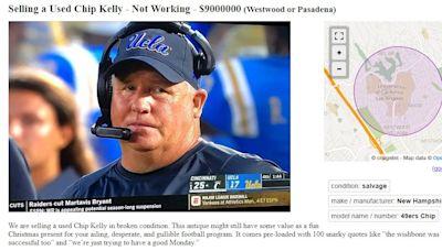 """""""Used"""" Chip Kelly for sale on Los Angeles area Craigslist"""