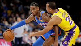 Oklahoma City Thunder overturn sizeable deficit to beat Los Angeles Lakers