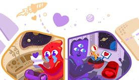 This year's Valentine's Day Google doodle features 2 adorable aliens. Here's the past 10 years of Google doodles celebrating love.