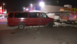 Driver arrested after allegedly plowing van into crowd eating at Fresno taco truck