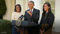 Barack Obama praises daughters Sasha and Malia: 'They're not just interested in making noise'