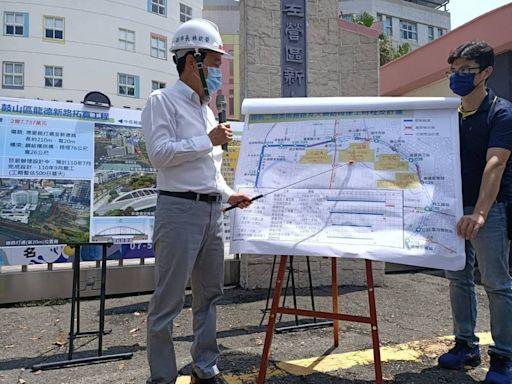 視察高雄輕軌二階大順路段 林欽榮預告施工圍籬繼續「向東」邁進