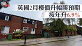 BNO居留權|英國2月樓價升幅勝預期 按年升6.9%(附各區樓價圖) | 蘋果日報