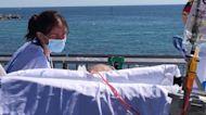 Barcelona hospital brings coronavirus patients to beach