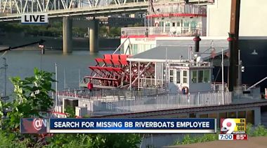Boats search for BB Riverboats worker presumed drowned