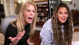 Cheryl Hines Plays Movie-Themed Chubby Bunny