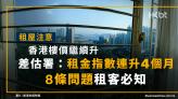 租屋注意 香港樓價升!差估署:租金指數連升4個月!8條問題租客必知