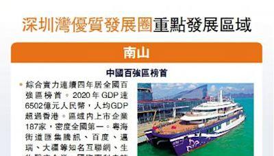 深圳灣優質發展圈重點發展區域