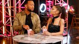 Ariana Grande and John Legend leave 'Voice' stage while Kelly Clarkson and Blake Shelton argue