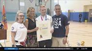 Team USA Diver Andrew Capobianco Visits Nassau County Youth Camp