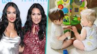 Nikki Bella & Brie Bella's Baby Boys Gaze At Each Other On Adorable Playdate