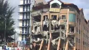 Hotel Damaged as Earthquake Strikes Southern Philippines