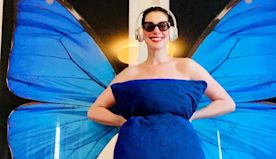 Anne Hathaway Channels 'Princess Diaries' in Quarantine Pillow Challenge