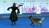 Russians compete in dancing with their dogs