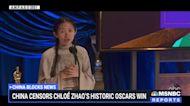 China censors Chloé Zhao's historic Oscars win