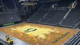 Matthew Knight Arena gets vivid, new arena floor as fans await basketball's return