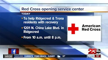 Red Cross opening earthquake recovery service center