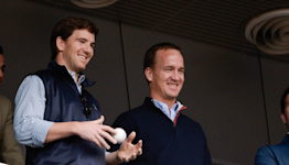 'They had a special sauce': Peyton and Eli Manning reveal secrets to breaking in footballs on 'Manningcast'