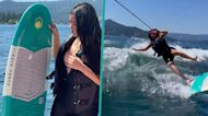 Kim Kardashian Wipes Out While Trying To Wakeboard During Fourth Of July Weekend